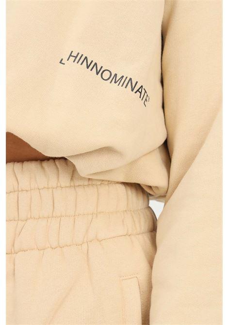Felpa donna biscotto hinnominate girocollo con elastico sul fondo HINNOMINATE | Felpe | HNWSFCO28BISCOTTO