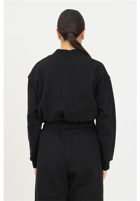 Felpa donna nero hinnominate girocollo con elastico sul fondo HINNOMINATE | Felpe | HNWSFCO28NERO