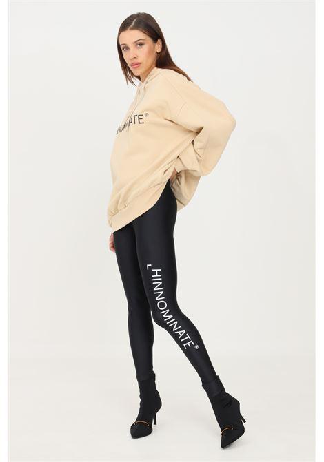 Leggings nero hinnominate con logo a contrasto HINNOMINATE | Leggings | HNWSL49NERO