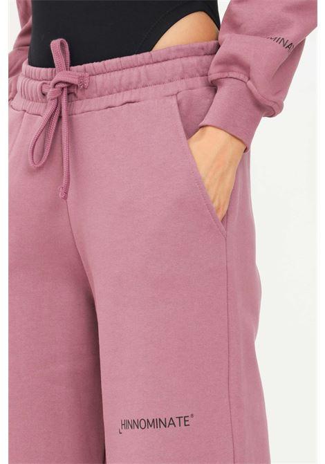 Pantaloni donna melanzana hinnominate casual con fondo ampio HINNOMINATE | Pantaloni | HNWSP04MELANZANA
