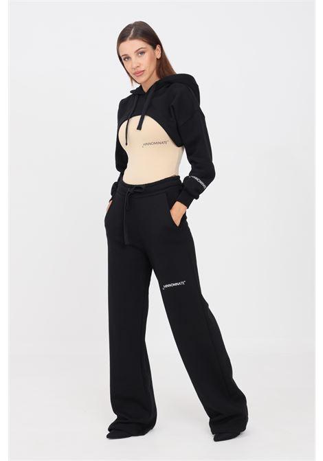 Pantaloni donna nero hinnominate casual con fondo ampio HINNOMINATE | Pantaloni | HNWSP04NERO