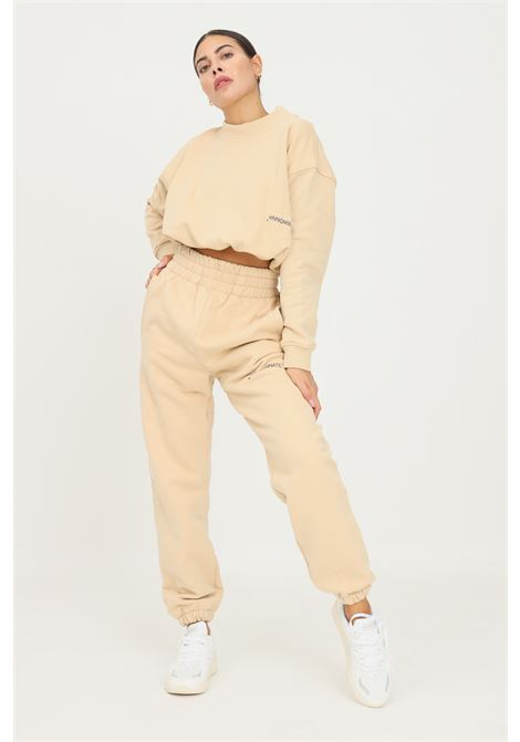 Biscuit women's trousers by hinnominate, causal model with high waist HINNOMINATE | Pants | HNWSP32BISCOTTO