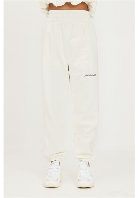 White women's trousers by hinnominate, causal model with high waist HINNOMINATE | Pants | HNWSP32OFF WHITE