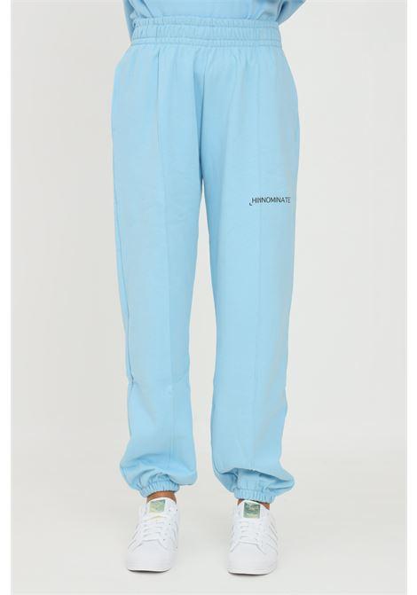 Pantaloni unisex azzurro hinnominate modello casual con elastico in vita HINNOMINATE | Pantaloni | HNWSP38CIELO
