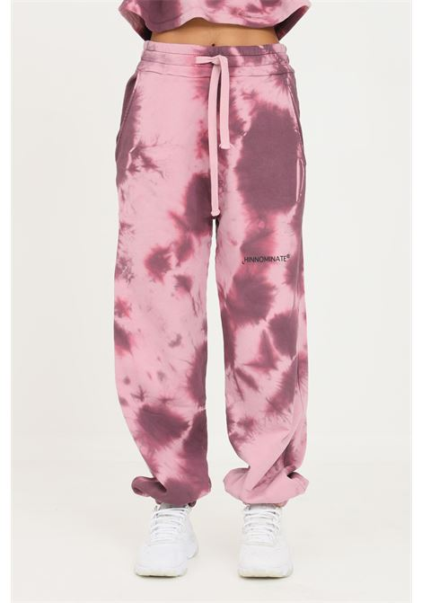 Pink women's trousers by hinnominate, casual model with allover print HINNOMINATE | Pants | HNWSP58ROSA