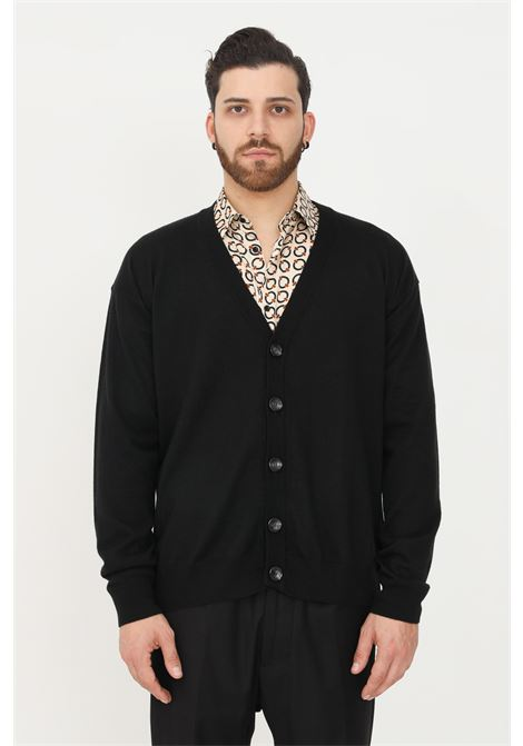 Black men's cardigan by i'm brian, front closure with buttons I'M BRIAN | Cardigan | MA1897009