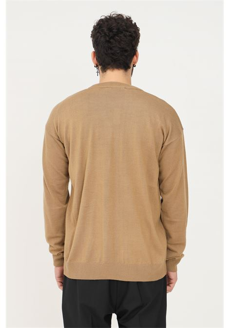 Camel men's cardigan by i'm brian, front closure with buttons I'M BRIAN | Cardigan | MA1897035
