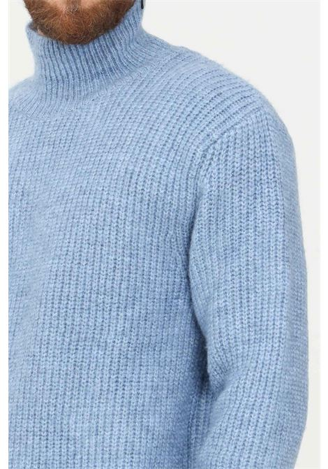 Maglioncino uomo azzurro i'm brian a collo alto I'M BRIAN | Maglieria | MA1901CEL