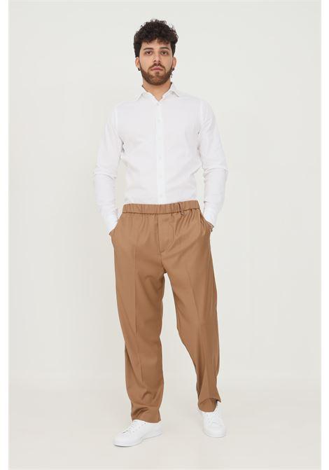 Pantaloni uomo cammello i'm brian taglio elegante con elastico in vita I'M BRIAN | Pantaloni | PA1832.035