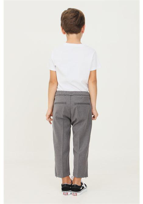Pantaloni grigio bambino i'm brain con elastico in vita I'M BRIAN | Pantaloni | PA1839JGRIG