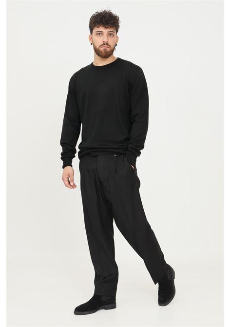 Pantaloni uomo nero i'm brian elegante chiusura con bottoni I'M BRIAN | Pantaloni | PA1840009