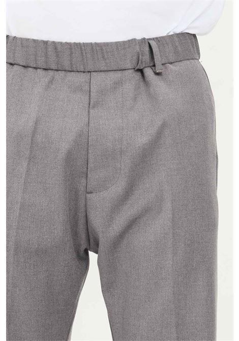 Pantaloni uomo grigio i'm brian taglio elegante con elastico in vita I'M BRIAN | Pantaloni | PA1841008