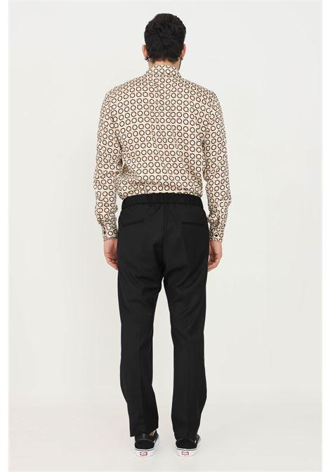Pantaloni uomo nero i'm brian taglio elegante con elastico in vita I'M BRIAN | Pantaloni | PA1841009