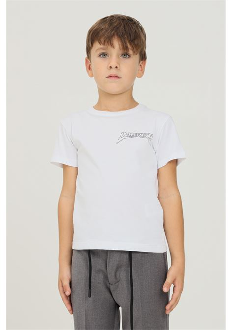 T-shirt bambino bianco i'm brian a manica corta con stampa logo I'M BRIAN | T-shirt | TS1923J002