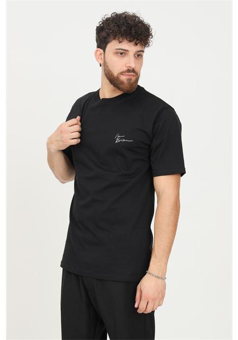T-shirt uomo nero i'm brian a manica corta con logo frontale a contrasto I'M BRIAN | T-shirt | TS1925009