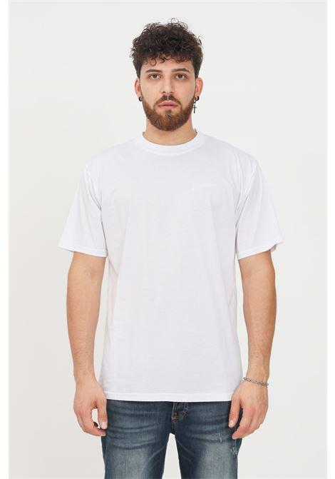 T-shirt uomo bianco i'm brian a manica corta con ricamo logo tono su tono I'M BRIAN | T-shirt | TS1927002