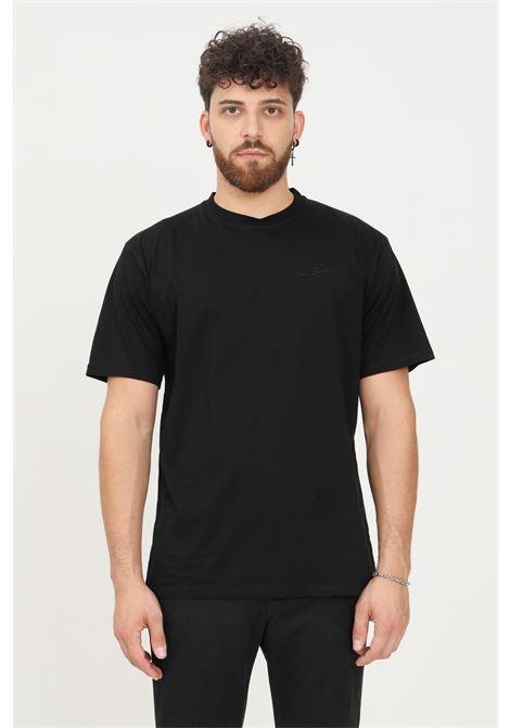 T-shirt uomo nero i'm brian a manica corta con ricamo logo tono su tono I'M BRIAN | T-shirt | TS1927009