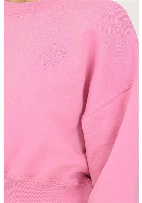 Felpa donna rosa irene is good girocollo taglio corto IRENE IS GOOD | Felpe | 21FW-IGCN007PINK
