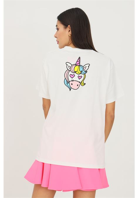 T-shirt donna bianco irene is good a manica corta con unicorno sul retro IRENE IS GOOD | T-shirt | 21FW-IGTS013WHITE