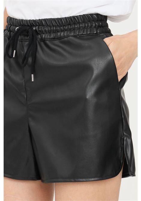 Black women's shorts with elastic waistband jaqueline de young jaqueline de young | Shorts | 15227603BLACK