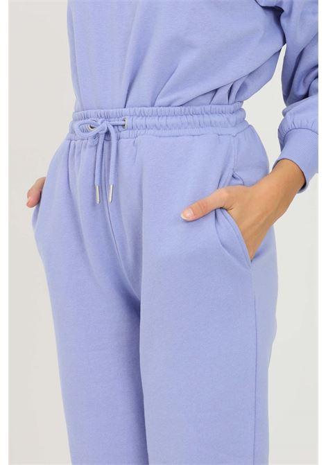 Pantaloni donna lilla jaquelin de young con elastico in vita jaqueline de young | Pantaloni | 15233941JACARANDA