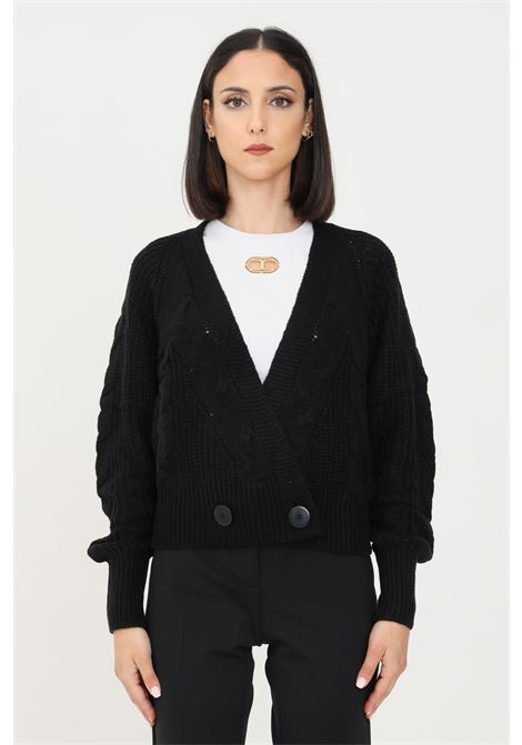 Black women's cardigan by JDY in knit without closures jaqueline de young | Cardigan | 15234037BLACK