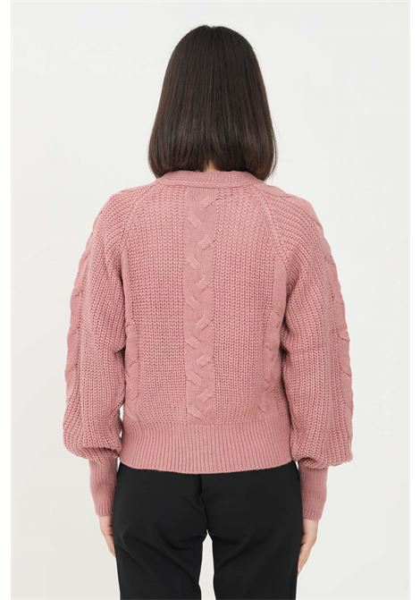 Pink women's cardigan by JDY in knit without closures jaqueline de young | Cardigan | 15234037NOSTALGIA ROSE