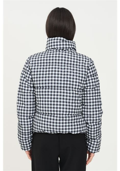 Printed jacket by jdg with zip and damier theme jaqueline de young | Jacket | 15237754BLACK/CHECK