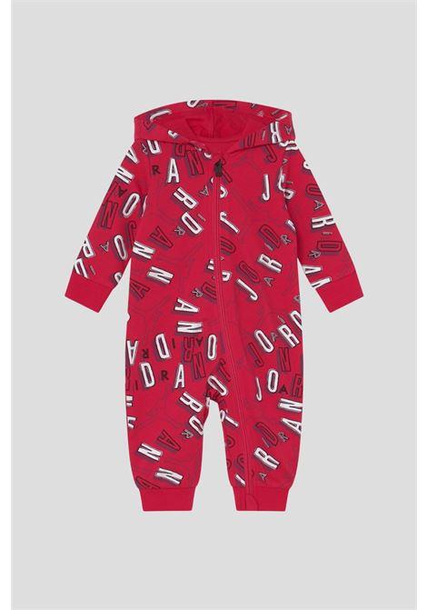 Red newborn body with allover jordan logo print  JORDAN | Body | 05A879A9V