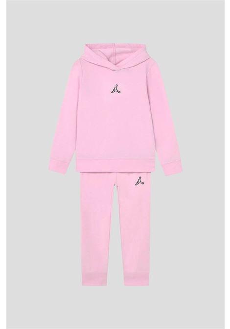 Tuta bambina rosa con logo jordan a contrasto JORDAN | Tute | 35A950A9Y