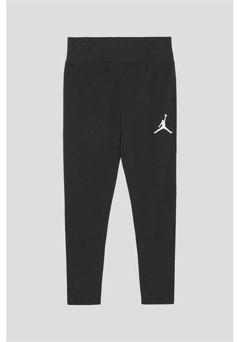Leggings bambina nero jordan con mini logo a contrasto JORDAN | Leggings | 45A438023