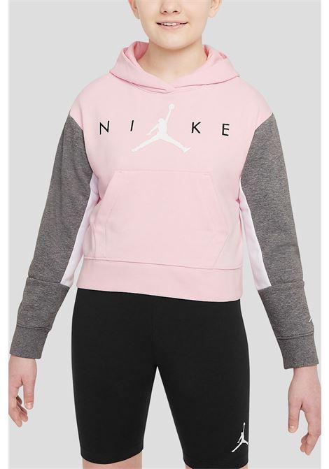 Pink grey baby jordan jumpman boxy hoodie  JORDAN | Sweatshirt | 45A761A9Y