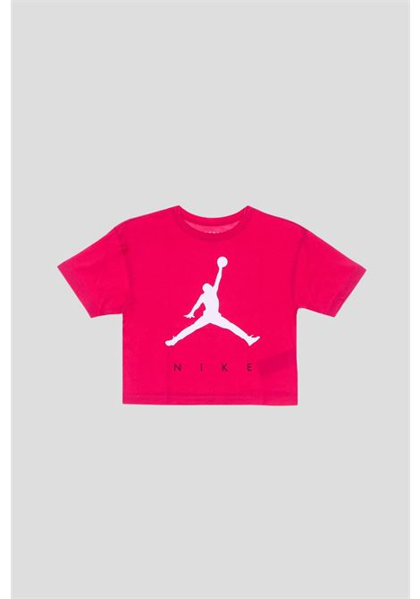 T-shirt bambina ciliegia jordan con stampa logo frontale JORDAN | T-shirt | 45A763A9V