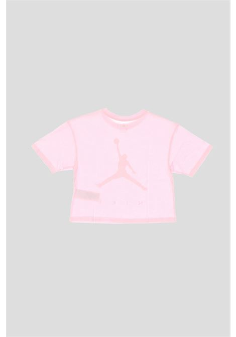 T-shirt bambina rosa jordan con stampa logo frontale JORDAN | T-shirt | 45A763A9Y