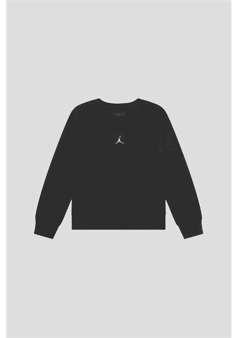 Felpa nero bambina nike basic girocollo JORDAN | Felpe | 45A859023