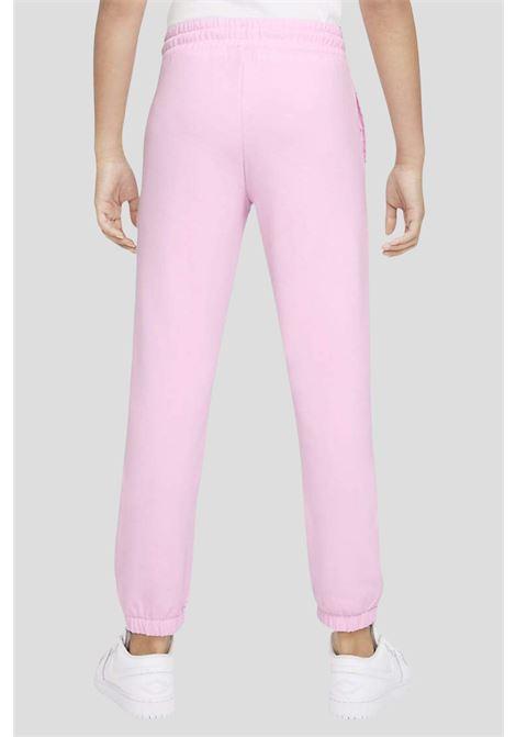 Pantaloni rosa bambina sport jordan modello con vita elastica JORDAN | Pantaloni | 45A860A9Y