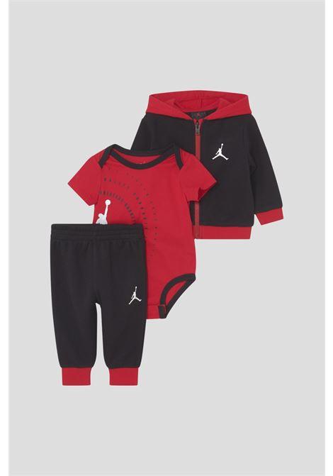 Red black newborn suit by jordan, 3 pieces JORDAN | Suit | 55A852KRS