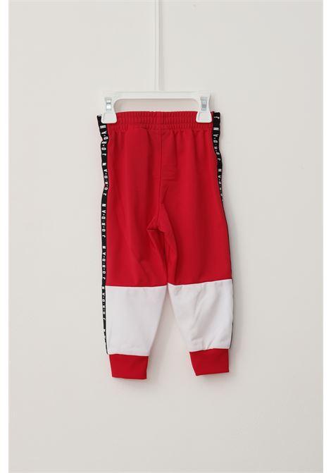 Tuta jumpan air blocked tricot neonato rosso jordan con logo a contrasto JORDAN | Tute | 65A838A9V