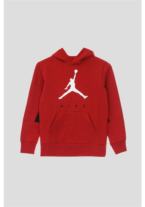 Red baby hoodie by jordan with contrasting logo on the front JORDAN | Sweatshirt | 95A675R78