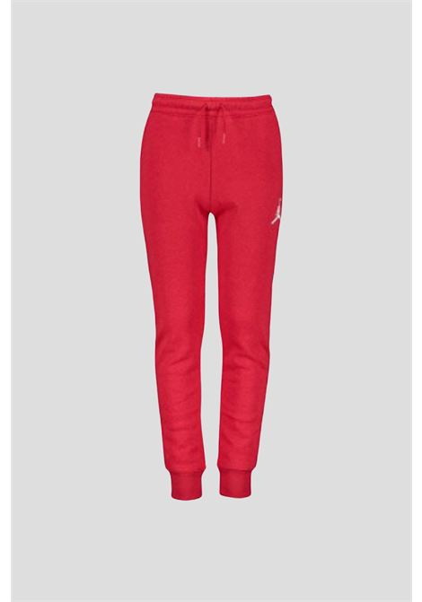 Red baby trousers by jordan with contrasting logo JORDAN   Pants   95A678R78