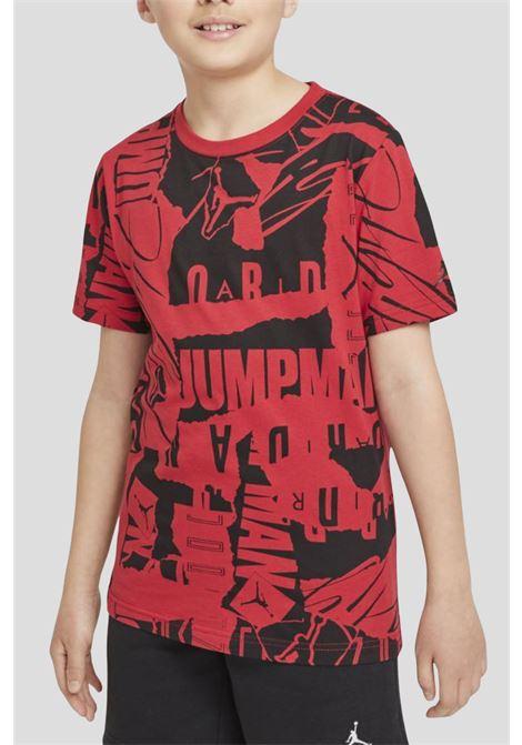 Red baby t-shirt by jordan with allover print JORDAN | T-shirt | 95A738R78