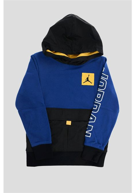 Blue baby jordan boys utility over the head hoodie JORDAN | Sweatshirt | 95A745B5K
