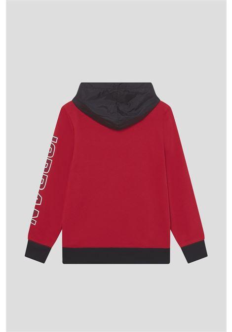 Red jordan boys utility over the head hoodie JORDAN   Sweatshirt   95A745R78