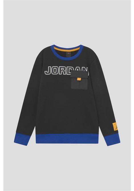 Black baby sweatshirt by jordan with maxi logo print on the front JORDAN | Sweatshirt | 95A746023