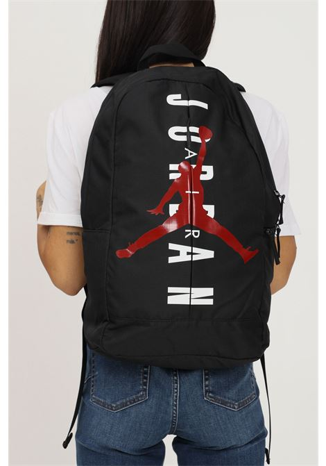 Black unisex backpack by jordan with maxi logo print on the front JORDAN | Backpack | 9A0318023