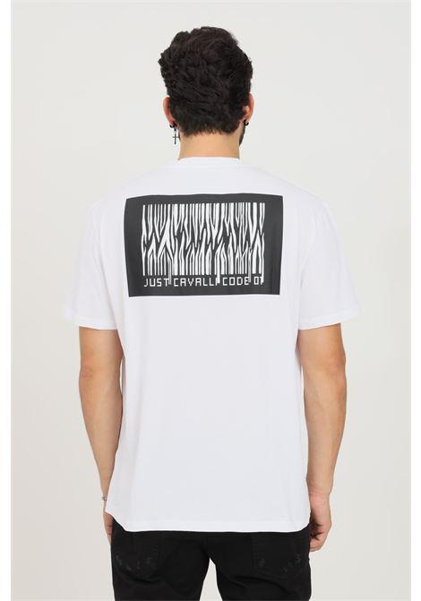 T-shirt uomo bianco just cavalli a manica corta JUST CAVALLI   T-shirt   S03GC0647100