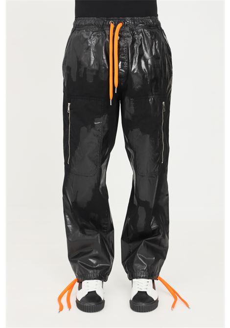 Pantaloni uomo nero just cavalli casual con elastico in vita JUST CAVALLI   Pantaloni   S03KA0258900