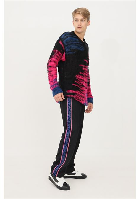 Pantaloni uomo nero just cavalli modello casual con bande laterali logate JUST CAVALLI   Pantaloni   S03KA0260900