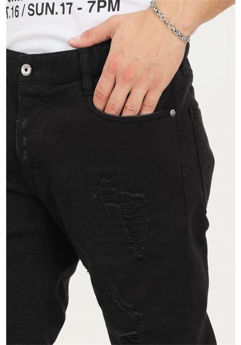 Jeans uomo nero just cavalli effetto painting JUST CAVALLI   Jeans   S03LA0132900