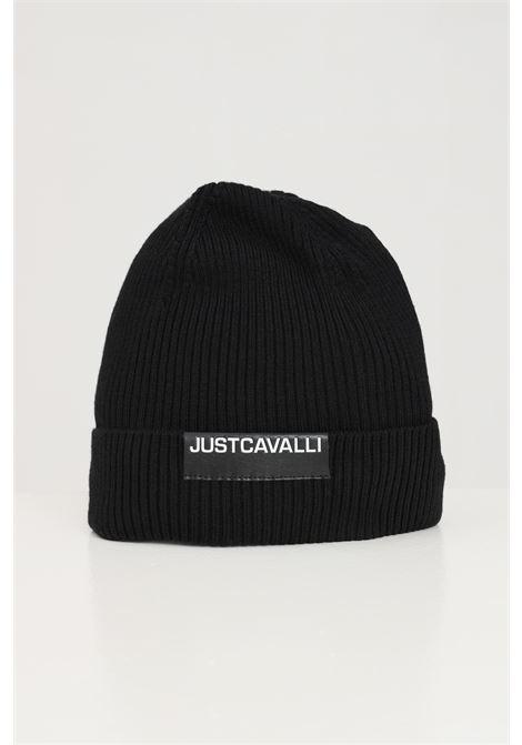 Black unisex hat by just cavalli with lapel JUST CAVALLI | Hat | S03TC0050900